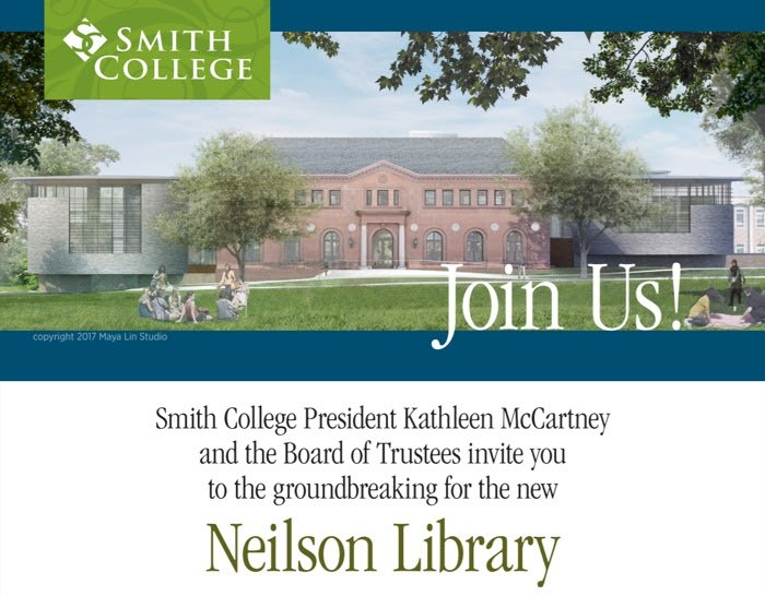 Join us as we break ground for the new Neilson Library