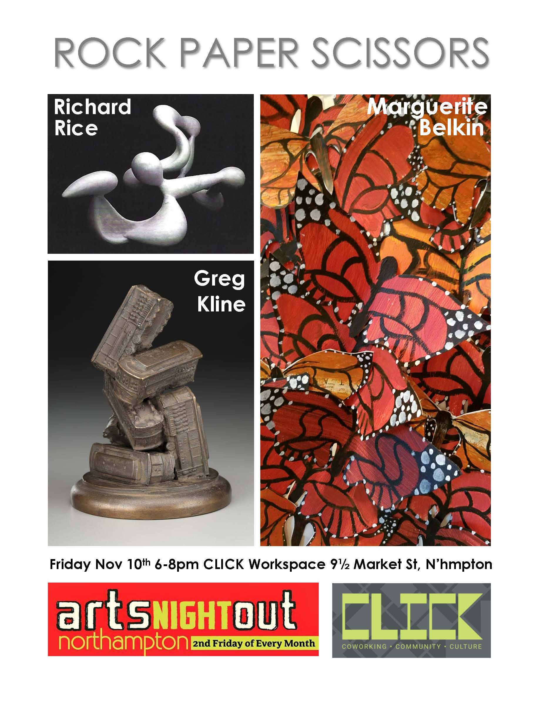 """Arts Night Out: """"Rock Paper Scissors"""" Opening Reception"""
