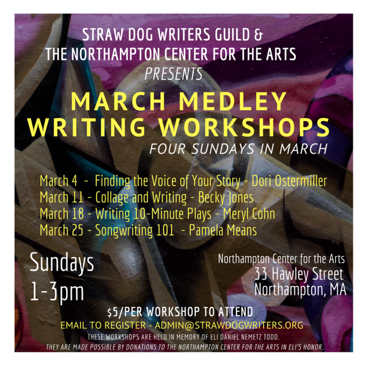 MARCH MEDLEY WRITING WORKSHOPS: Songwriting 101 with Pamela Means