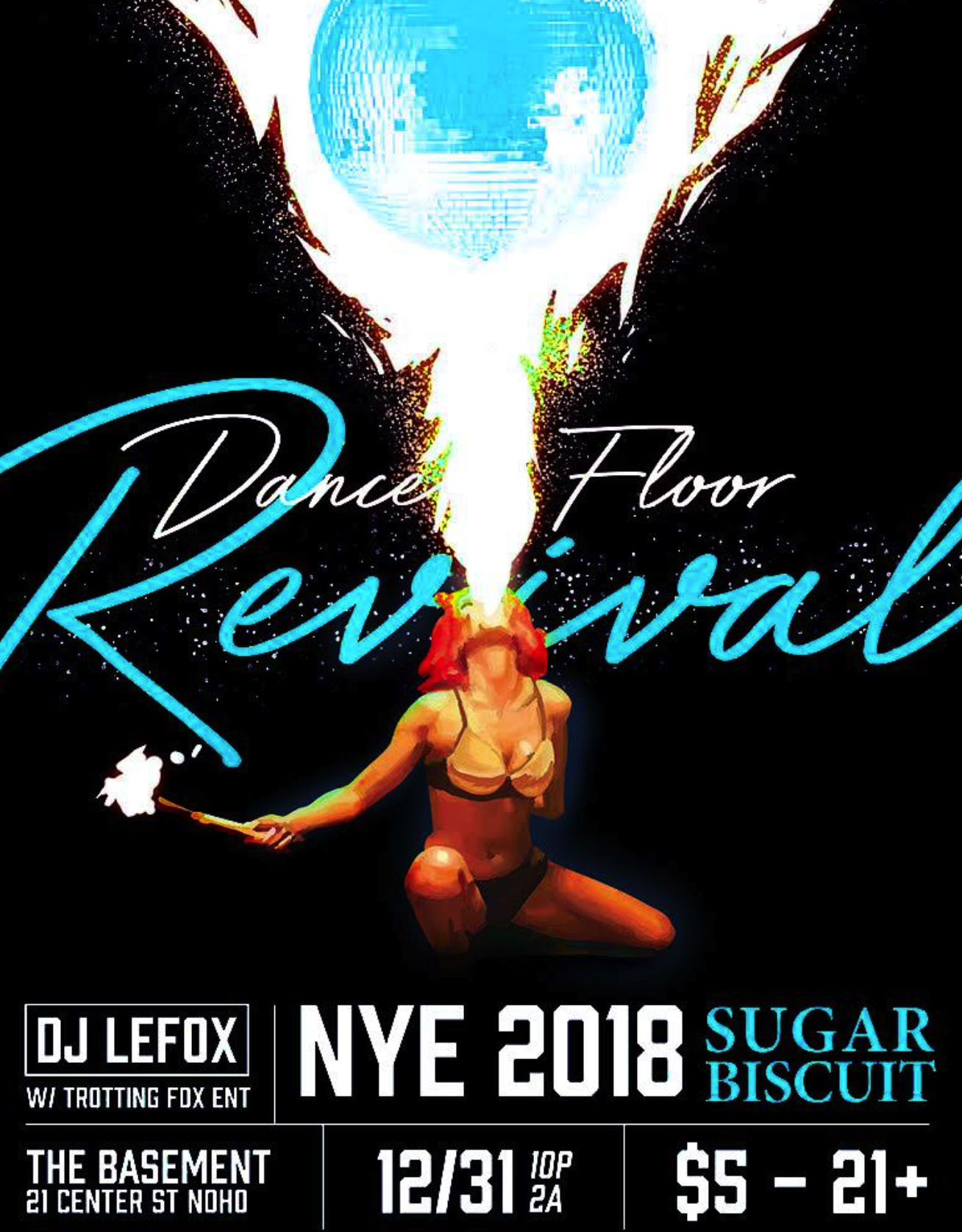 Sugar Biscuit NYE 2018: Dance Floor Revival a QUEER Dance Party w/LeFox & Trotting Fox Ent