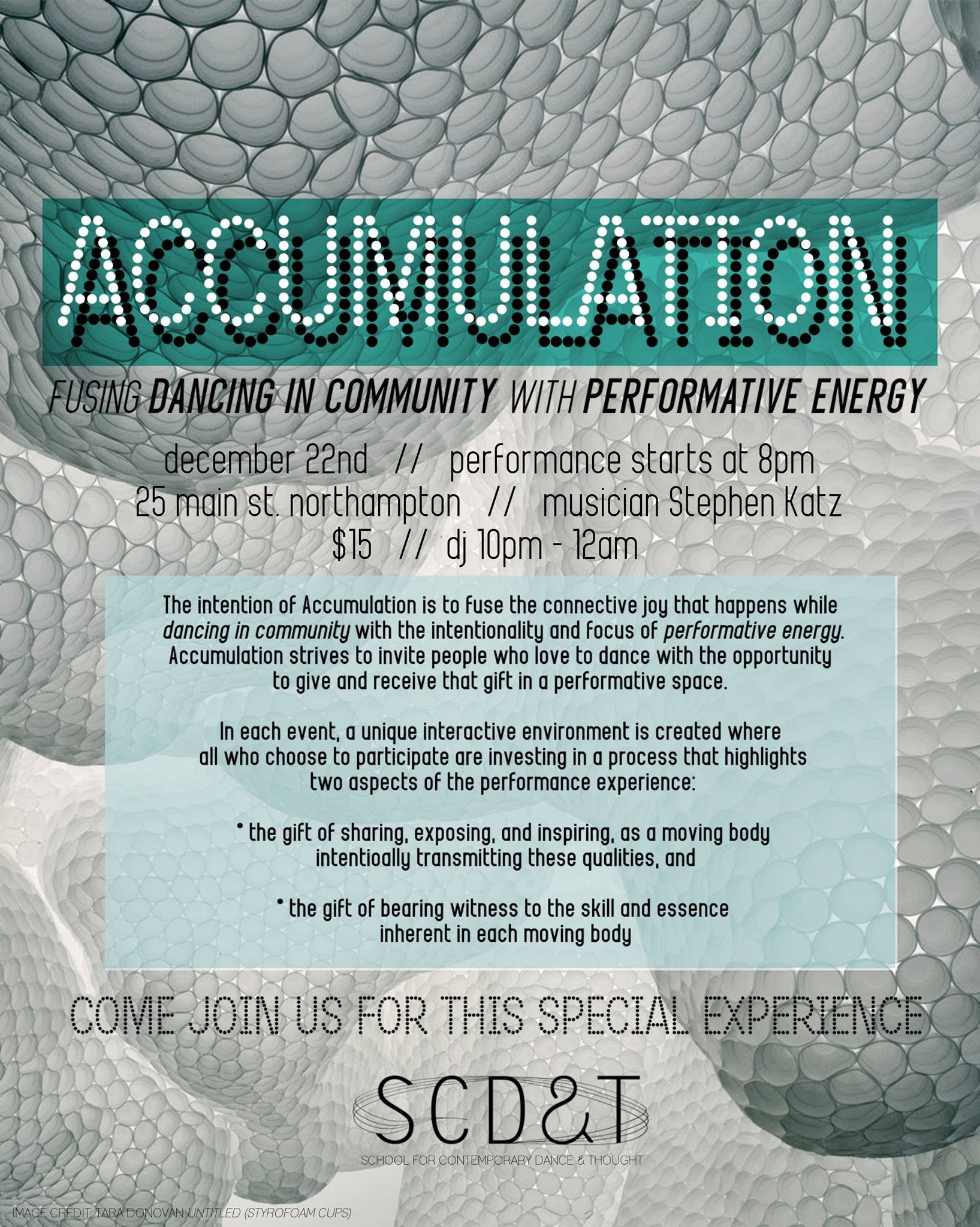 ACCUMULATION: Interactive Performance + Dance Party