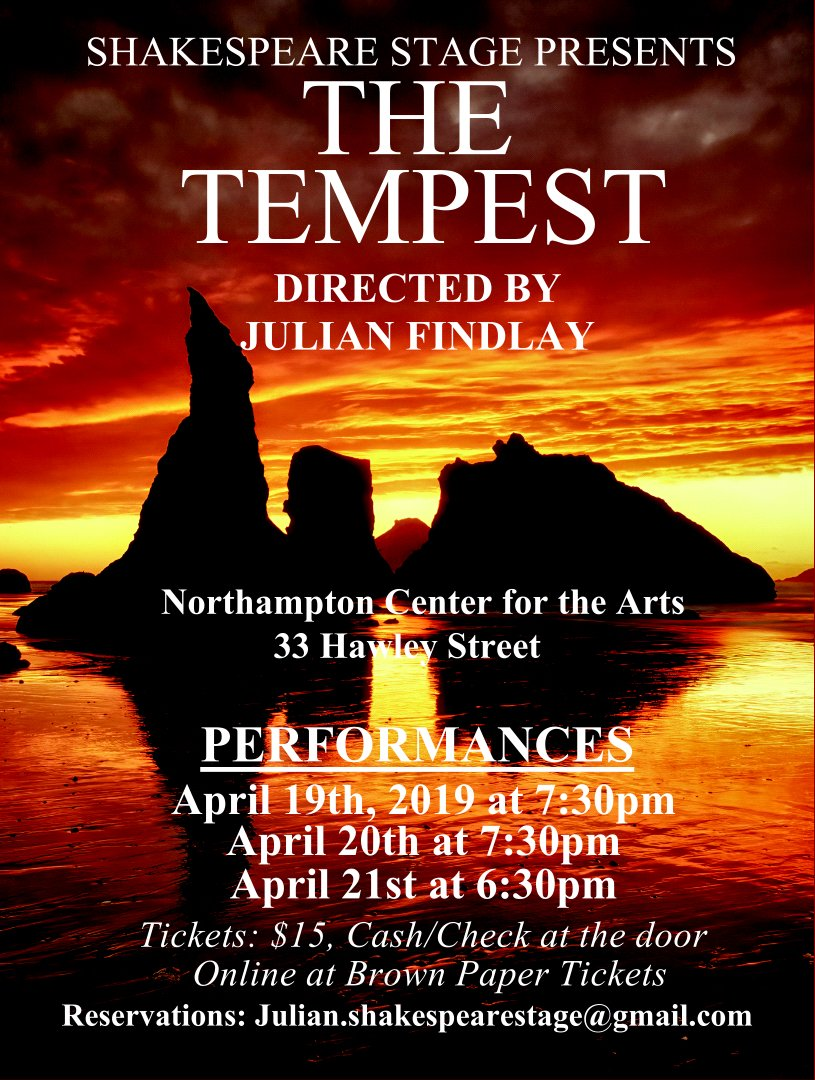 Shakespeare Stage and the Center for the Arts present The Tempest