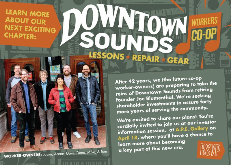 Downtown Sounds Workers Co-Op Information Session