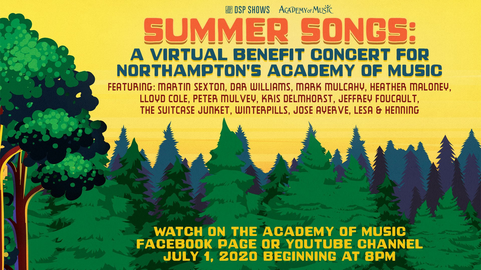 Summer Songs: A Virtual Benefit Concert for Northampton's Academy of Music Theatre