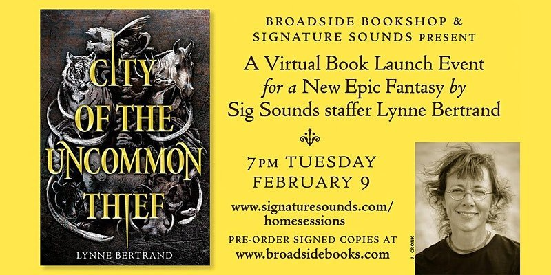 Virtual Launch Event for City of the Uncommon Thief: A New Epic Fantasy by Lynne Bertrand